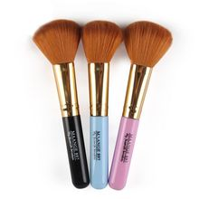 Double Ends Eye Shadow Blush Brush Synthetic Hair Cosmetic Brush Wood Handle Professional Product Single Makeup Beauty Tool fafula professional makeup tool double ended contour define eye shadow brush black