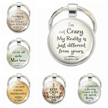 I'm Not Crazy Keychain Funny Quotes Jewelry Glass Cabochon Keychain Gifts For Friends 2019 Fashion Funny Gift(China)