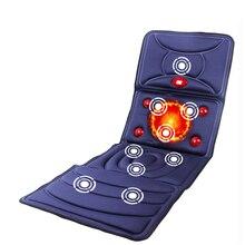 YihCare дальнего инфракрасного электрического массажный матрас Отопление Вибрационный всего тела ногу шеи Матрас для массажа подушки кресла массажный коврик дома