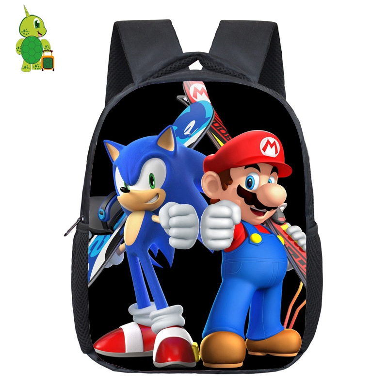 Super Mario Sonic Backpacks Cartoon Kids Baby Toddler Daily School Bags Preschool Kindergarten Backpack Children Best Gift Рюкзак