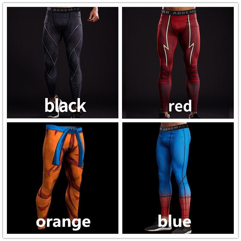 Trousers Leggings Compression-Tights-Pants Sweatpants Spiderman Fitness Captain-America