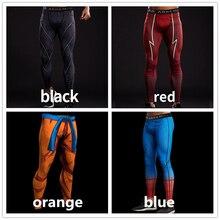 Компрессионные колготки с 3D-принтом «Человек-паук», мужские спортивные штаны, обтягивающие леггинсы для фитнеса «Капитан Америка», мужские брюки