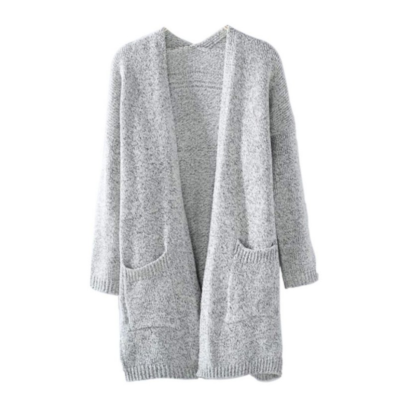 Women Knitted Sweater Coat Long Sleeve Cardigans Casual Loose Jacket Outwear ...