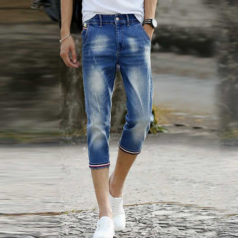 Online Get Cheap Denim Capris Men's -Aliexpress.com | Alibaba ...