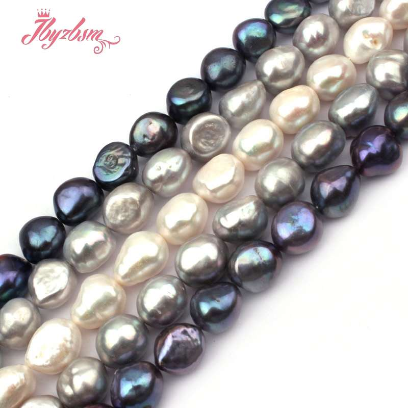 Jewelry & Accessories Free Shipping Natural Purple Drop Drilled Strand Baroque Irrugular Pearls Beads For Jewelry Making Diy Bracelet Necklace Handsome Appearance