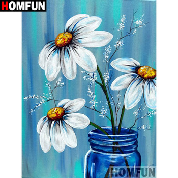 HOMFUN Full Square/Round Drill 5D DIY Diamond Painting Flower landscape Embroidery Cross Stitch 3D Home Decor Gift A13253