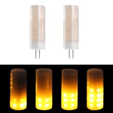 Beeforo flame bulb G4 base 1700K True Fire Color led Decorative Lamp for Christmas Halloween Festival Party Flame Bulb