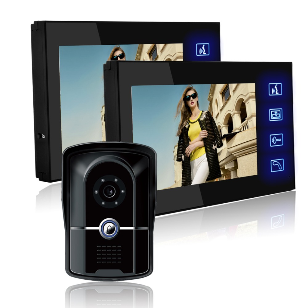7 Color Video Door Phone Doorbell Video Intercom Doorphone IR Night Vision Camera Doorbell Kit for Apartment Security jeatone 7 color video door phone doorbell video intercom doorphone ir night vision camera doorbell kit home apartment security