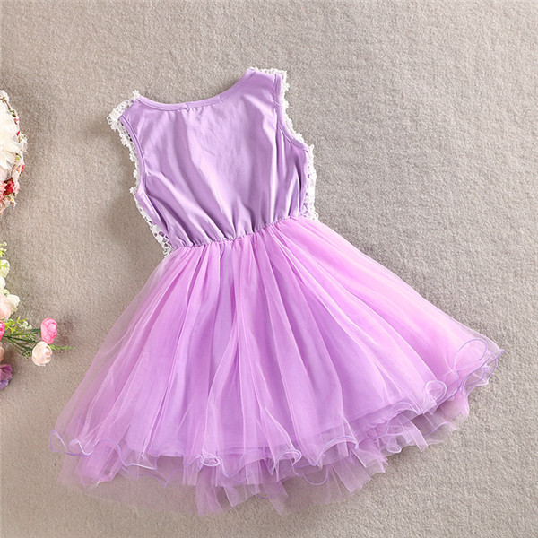 4f9c93baa Bebé niñas Crochet encaje tul vestidos 2015 Kids Summer Girl Hallow ...