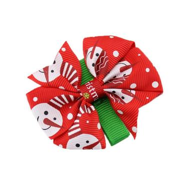 150pcs Free shipping cute girl Christmas Snowman snowflake pattern hair clips