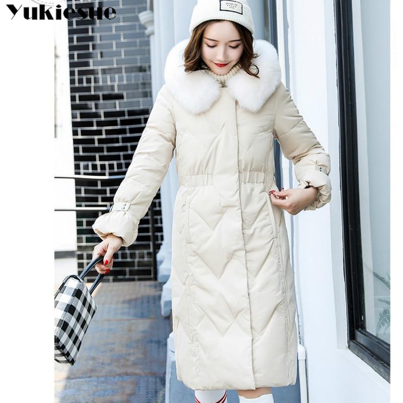 Vers Duvet D'hiver Femme Chaud Canard Outwear Vestes De Le Parka Bas Beige black Long Blanc Épais Nouvelle Mode Femmes Manteaux Manteau 2018 4qUwx5Ow