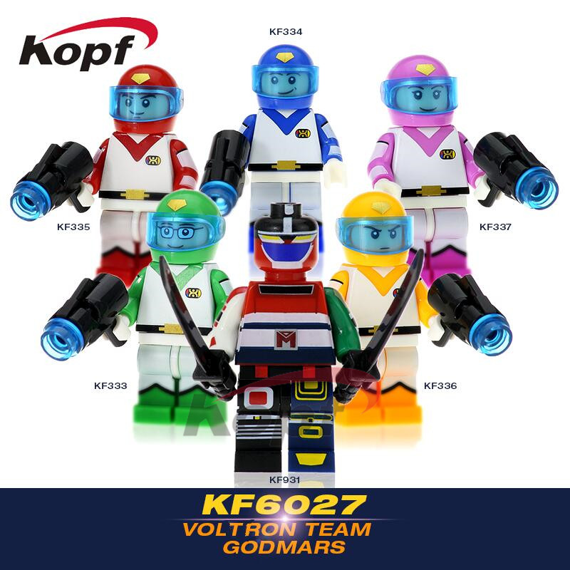 Super Heroes Space Wars Voltron Team Godmars Movie Six God Combination Bricks Set Model Building Blocks kids Gift Toys KF6027 single sale super heroes gi joe series matt with junkyard dog firefly snow job power girl building blocks kids gift toys kf6028