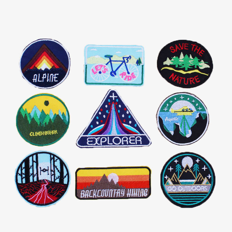 Fashion DIY Biker Embroidery Patch Applique Clothes Decorative Iron on Patches for Clothing Stickers Middle Finger Badges ...