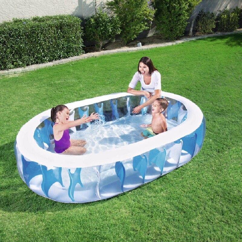 Piscine ovale piscine gonflable piscine famille pad piscine océan enfant