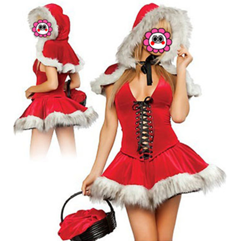New Arrival Little Red Riding Hood Costumes for Women Fancy Dress Adult Costume Free Shipping Christmas Costume