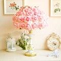 Lâmpada quarto lâmpada de mesa lâmpada de cabeceira romântico simulação rose garden decoração da lâmpada luzes