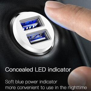 Image 5 - Baseus cargador Mini USB de coche para teléfono móvil y tableta con GPS, cargador rápido 3.1A, adaptador de doble cargador de telefono de coche USB para coche