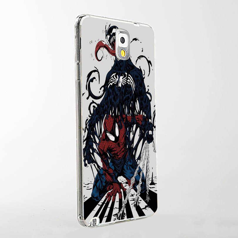 MaiYaCa veneno Marvel villano encantadora de plástico duro de la caja de los accesorios del teléfono para Samsung S5 S6 S7 S8