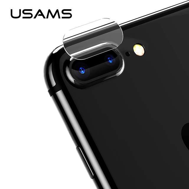 online retailer 8bb72 1328d 2pcs For iPhone 7 8 plus USAMS camera Lens Screen Protector Tempered Glass  Film 9H Corning Gorilla Glass Scratch Proof len cover