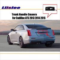 Liislee Car Camera For Cadillac ATS 2013 2014 2015 / Rear View Camera / HD CCD RCA NTST PAL / Trunk Handle OEM
