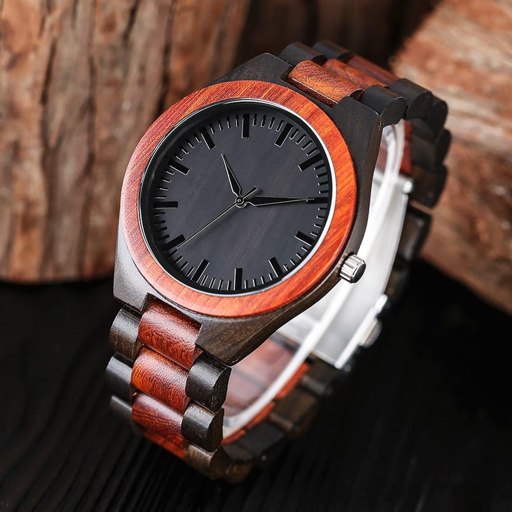 YISUYA Men s Full Wooden Watches Luxury Creative Bamboo Wood Quartz Wristwatch Nature Sport Bracelet Clasp