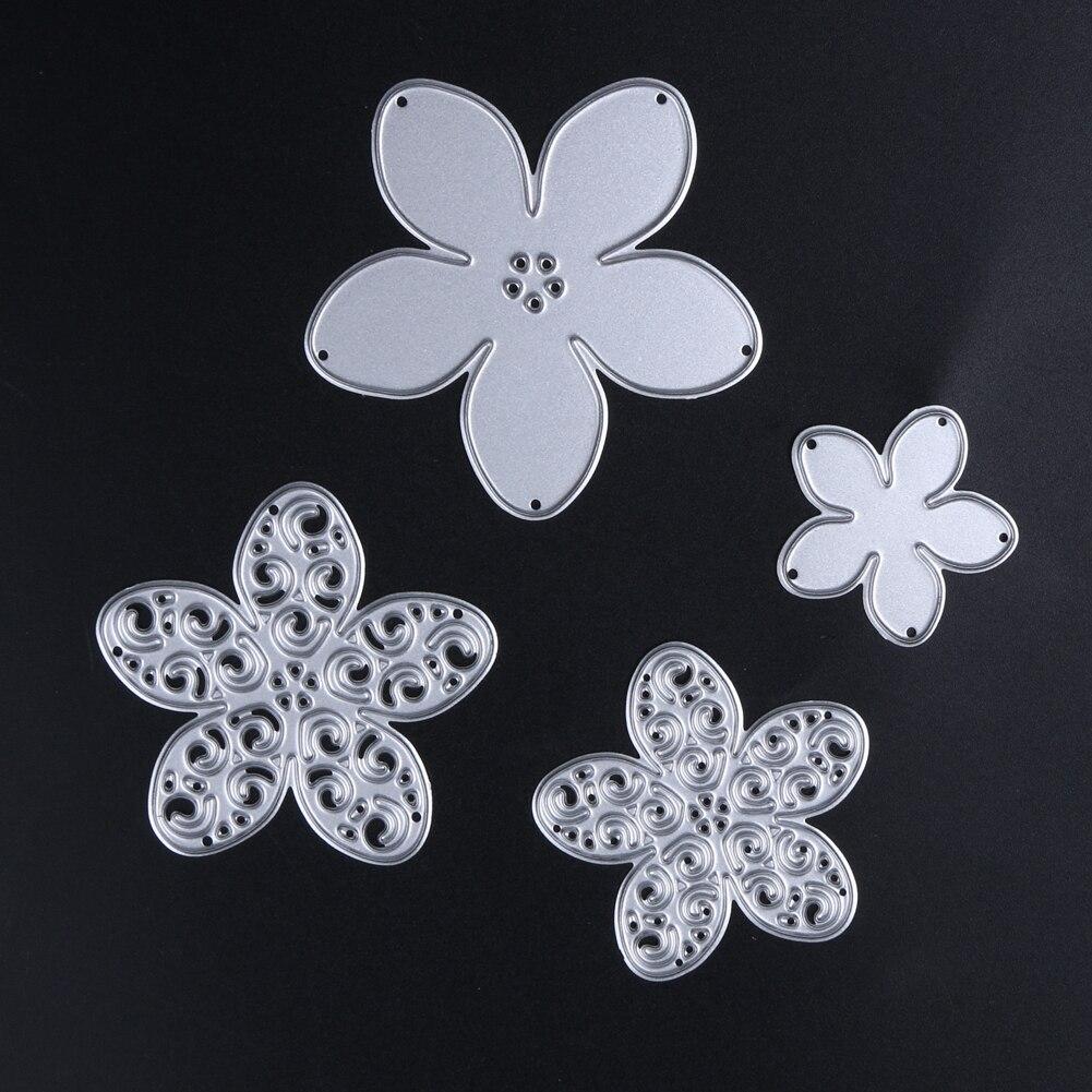 Ordernow Store 4 Style flower Metal Cutting Dies Stencils for DIY Scrapbooking/photo album Decorative Embossing DIY Paper Cards
