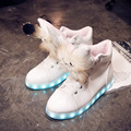 2017 New Styles Beautiful girls Lovers shoes lights up LED luminous shoes Bright silver 7 Colors sole casual children neon sneak
