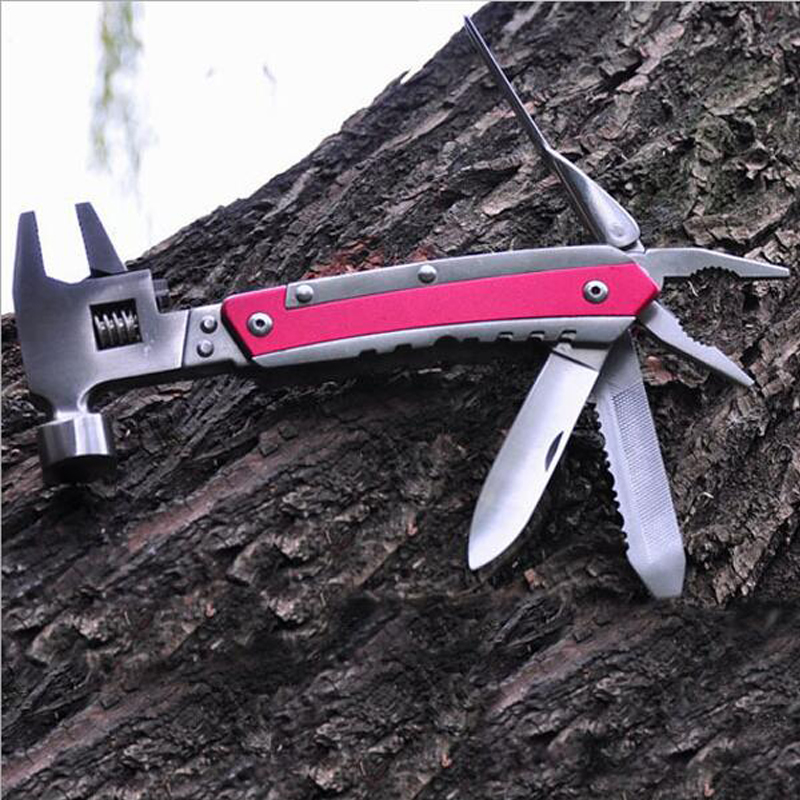 Camping Multifunction tool Pliers hammer folding saws Outdoor survival tourist equipment stainless steel Folding tool kit 2017 hot selling professional military tactical multifunction shovel outdoor camping survival folding spade tool equipment