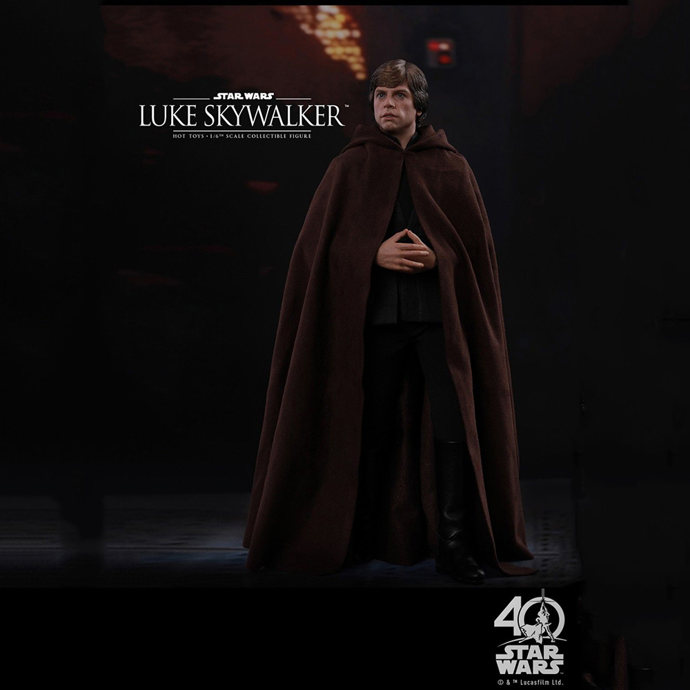 Collectible Full Set Action Figure Hot Toys 1/6 Luke Skywalker Star Wars: Return of the Jedi Black Ver. Figure Toy for Fans Gift star wars stormtrooper helmet cosplay mask figure collectible model toy 1 1