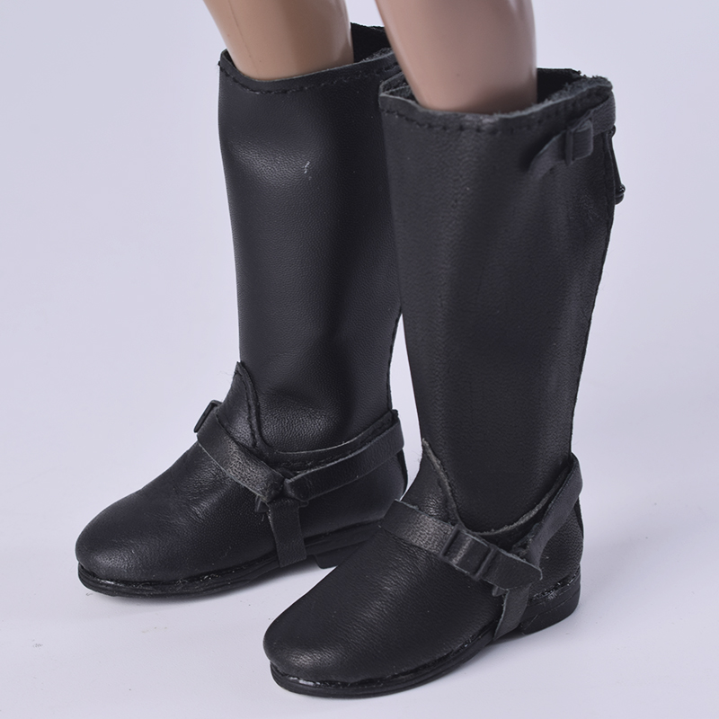 1/6 Scale Horse Riding boots Male/Female Middle Tube Black Knight Fit 12 Inch Soldier Phicen Action Figure