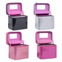 126 Pcs Portable Suitcase Essential Oil Bottle Storage Bag Manicure Glittle Bottle Compartment Pouch