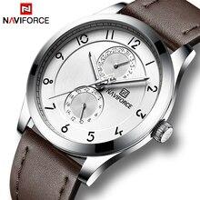 Мужские часы NAVIFORCE лучший бренд класса люкс водостойкие кварцевые часы Дата мужской тонкий кожаный ремешок модные часы мужские спортивные наручные часы