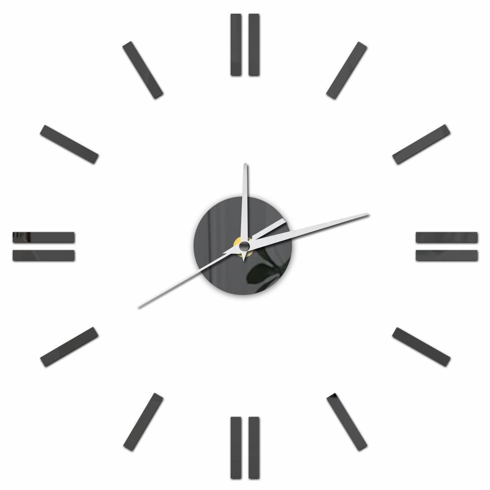 12'' Acrylic DIY Digital Kitchen Wall Clocks Modern Decorative Large Wall Clocks Home Decor Removable Wall Sticker