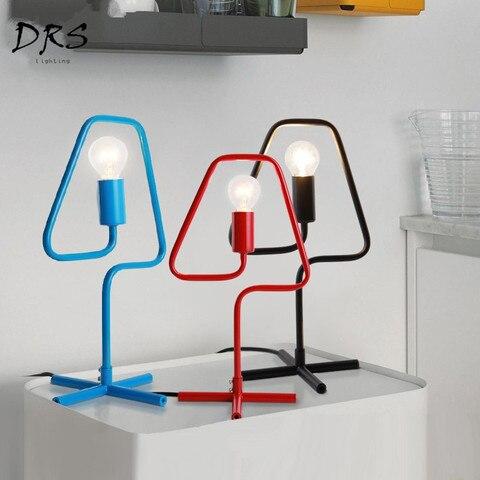 drs cor criativo sala de estar candeeiro de mesa personalidade simples nordic mesa quarto lampada