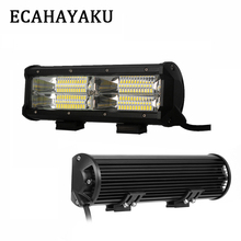 ECAHAYAKU 1Pcs IP67 7inch 144W 8D LED Work Light Bar Car Flood Lamp Driving For Jeep SUV ATV Offroad 4WD DC10-30V