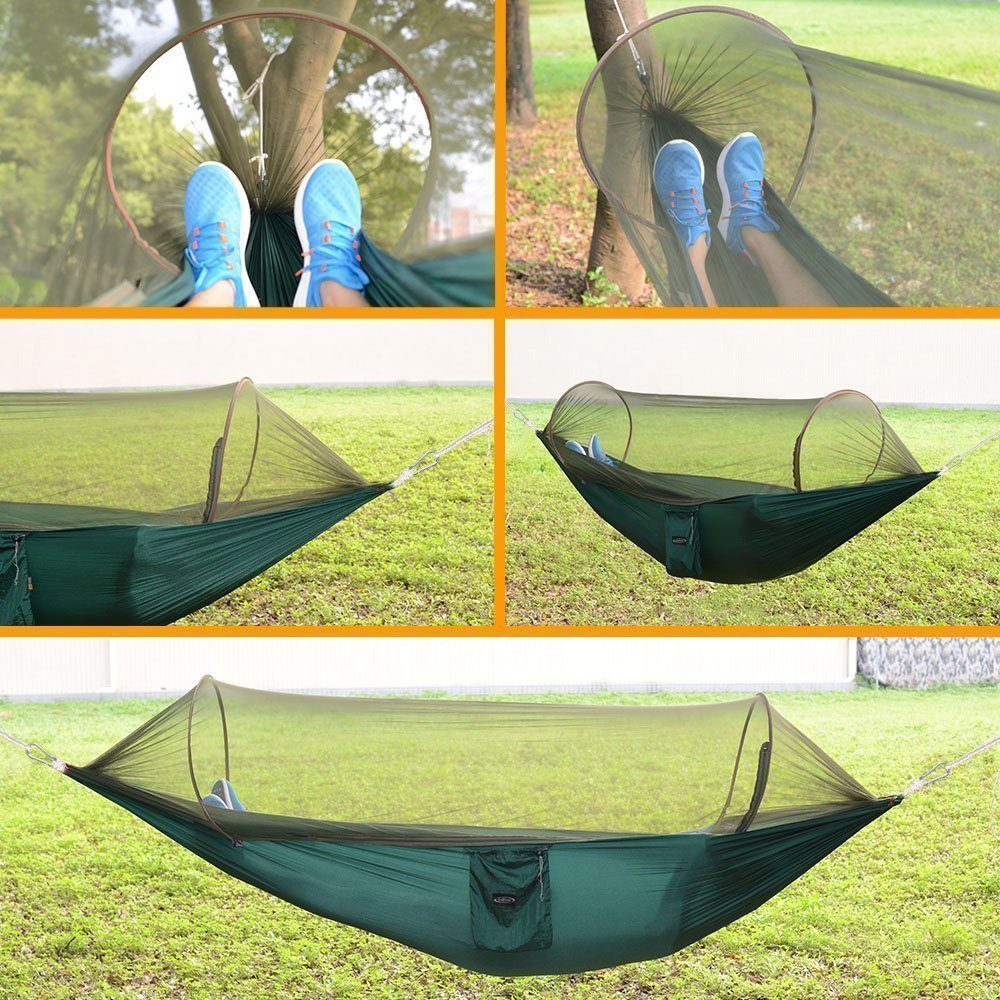 Smartlife Portable Foldable Camping Hammock Mosquito Net Hammock