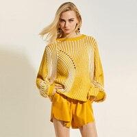 Sisjuly Women Loose Hollow Autumn Sweater Knitted Female Shirt Pullovers Girls Outwear Fashion 2017 Fall Women