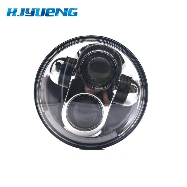 40w for Harley Davidson 5.75inch  LED Headlight Projector Light for Harley Davidson Motorcycle Triumph Rocket Halo Headlight