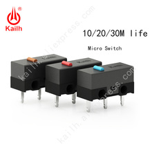 Kailh High life Micro Switch with 10/20/30M Cycle Mechamicroswitch 3PINS SPDT 1P2T Gaming mouse micro switch Mouse button