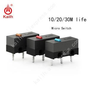 Image 1 - Kailh High life mikro przełącznik z 10/20/30M cykl Mechamicroswitch 3 piny SPDT 1P2T mysz do gier mikro przełącznik przycisk myszy