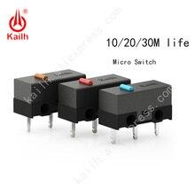 Micro interruptor da vida alta de kailh com 10/20/30 m ciclo mechamicrowitch 3 pinos spdt 1p2t gaming mouse interruptor botão do mouse