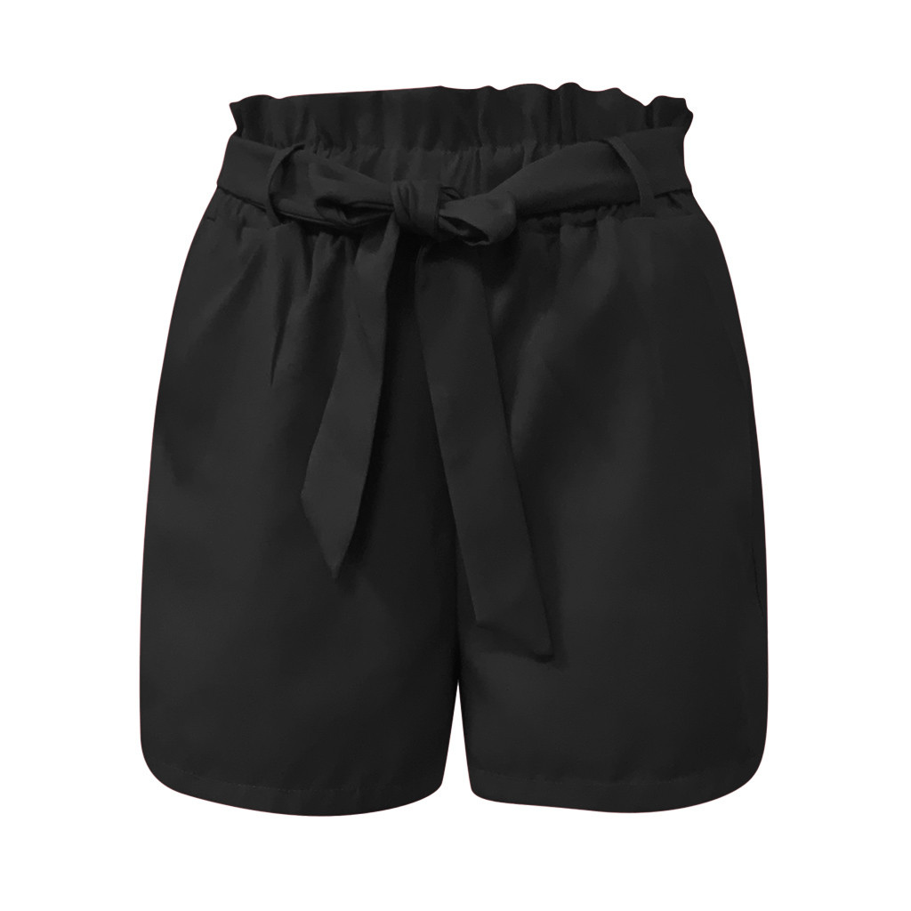 HTB1F4BpaQxz61VjSZFtq6yDSVXaZ - Fashion Shorts Women Plus Size Femme Summer High waist Shorts ladies Sexy Slim Short Pants Elastic Waist Loose Shorts