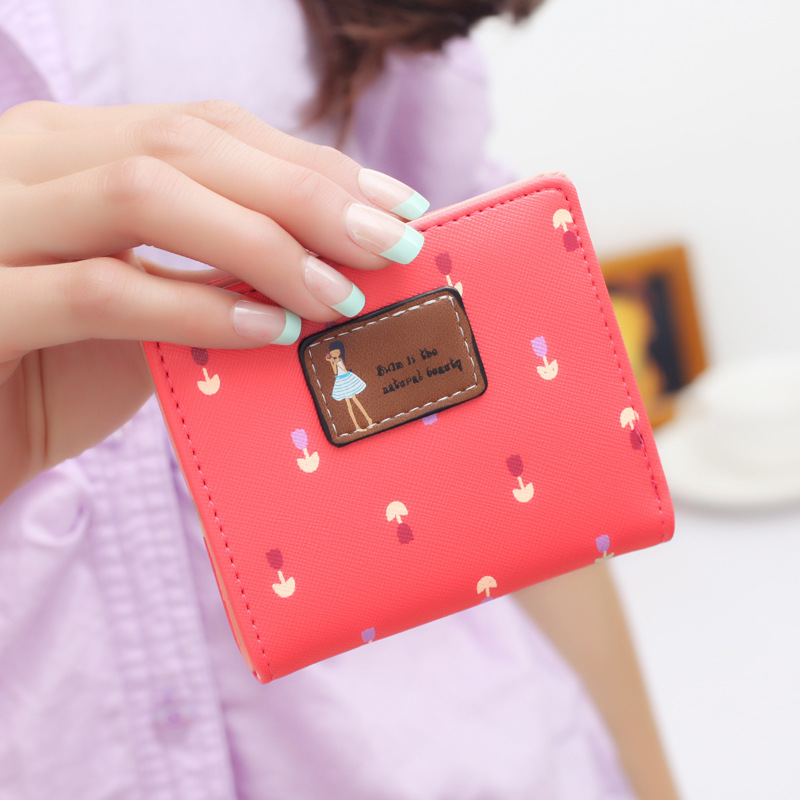 Leather Coin Purse  Cute Small Change Purses Wallet Coin Bag Card Holders Women Mini Floral Wallet hot small fresh forest female wind pastoral floral mini small school bag cute school bags coin purse student coin purse