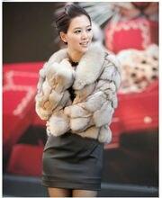 Genuine  real Fox fur coat coats jacket jackets overcoat vest vests garment for women