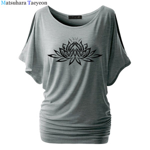 Image 4 - Beautiful Lotus Women Cotton T Shirts Fashion  Print Summer T Shirt All Match O Neck Short Sleeve Casual T Shirts Base Tees