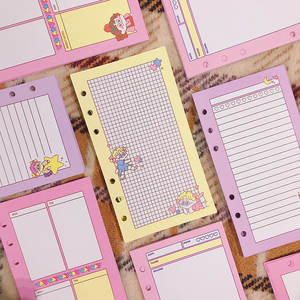 Notebook-Paper Refill Spiral-Binder-Planner Dairy Leaf Weekly-To-Do-Planner Page Inner