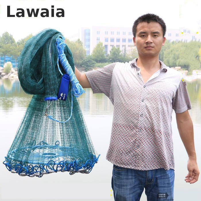 Lawaia Big Fishing Net Magnet Hand Netting Fly Cast Nets Rubber Green Filament GREEN Net Toughness Durable Outdoor Fish Network Lawaia Big Fishing Net Magnet Hand Netting Fly Cast Nets Rubber Green Filament GREEN Net Toughness Durable Outdoor Fish Network
