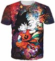 Smoking Kid Goku T-Shirt Classic Anime Dragon Ball Z t shirts Men/Women Hipster 3D Galaxy t shirt Summer Harajuku tshirt tee