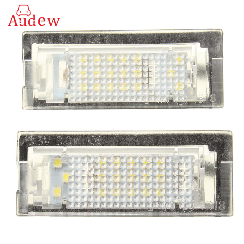 1 Pair LED License Plate Light Number Plate Lamp For BMW E39 5D 5 Door Wagon Touring Error Free 2x e marked obc error free 24 led white license number plate light lamp for bmw e81 e82 e90 e91 e92 e93 e60 e61 e39 x1 e84