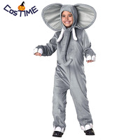 Toddlers Elephant Costume Kids Animal Onesies Cute Little Elephant Jumpsuit Costume Fancy Dress Halloween Costumes for Children